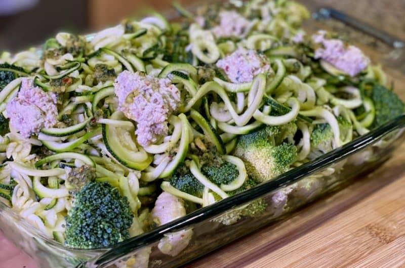 Vegan Pesto Gnocchi and Zoodles